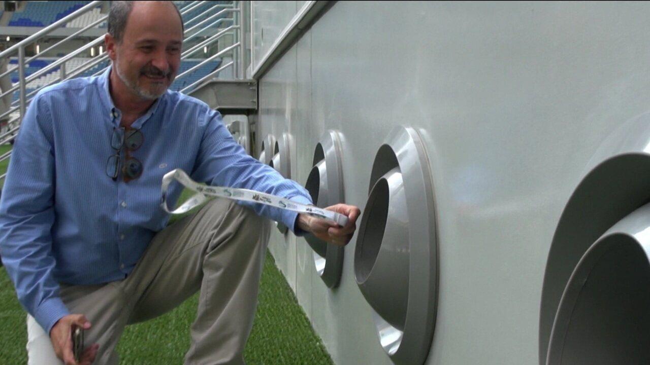 Estádios do Mundial de Clubes e Copa do Mundo de 2020 contam com ar condicionado nos campos e arquibancadas