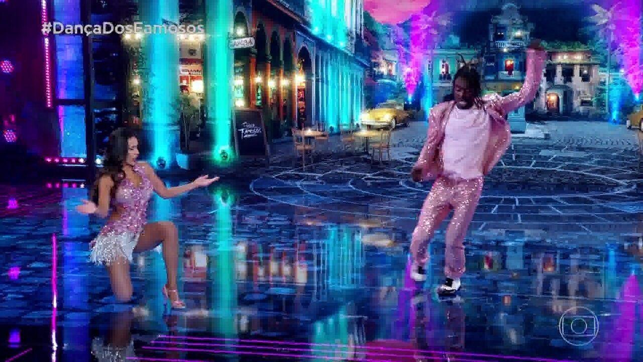 Jonathan Azevedo dança samba