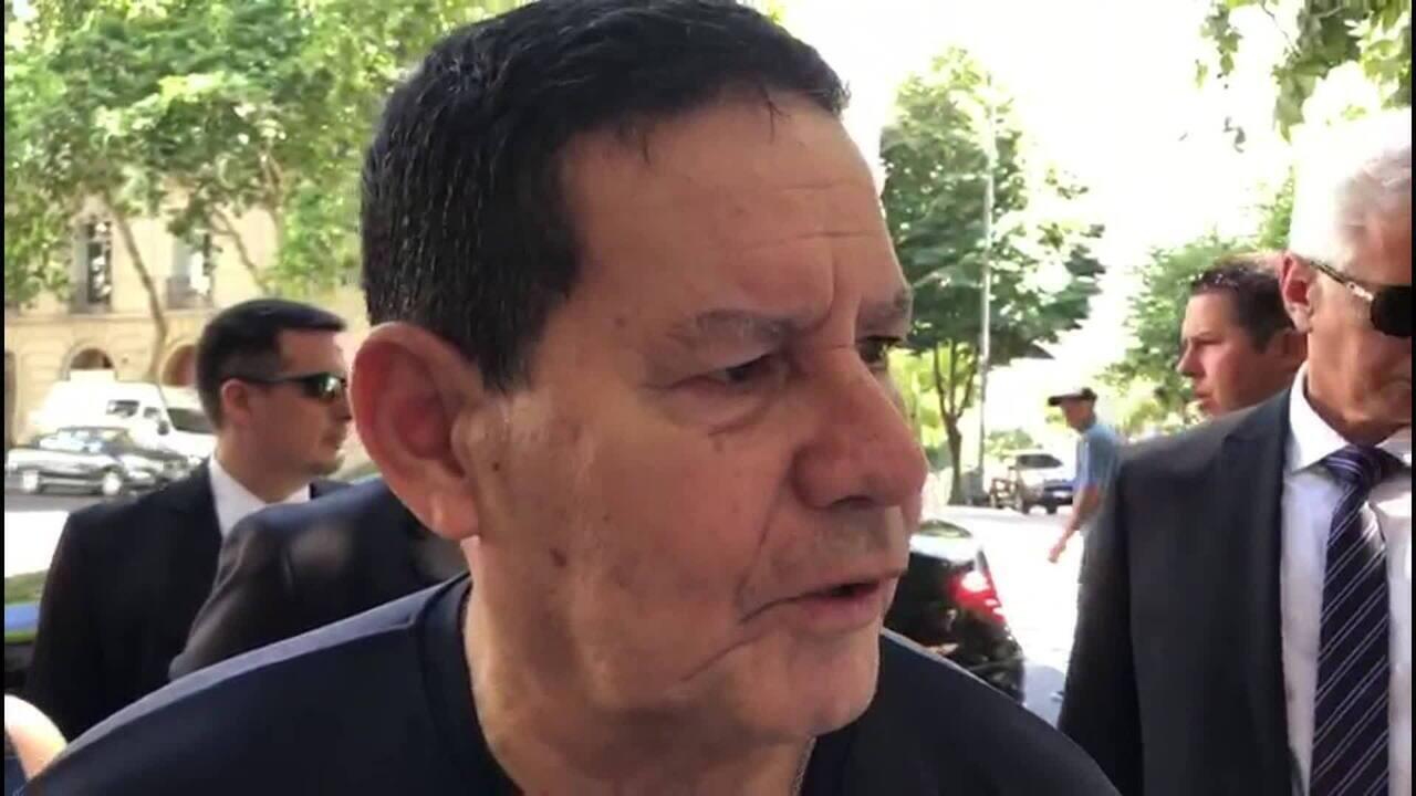 Mourão diz que importância comercial da Argentina justificou ida à posse de Fernández