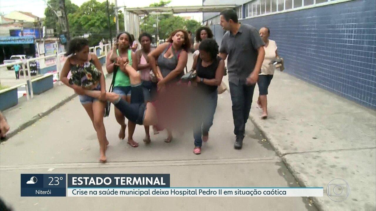 Crise na saúde municipal deixa Hospital Pedro II em situação caótica