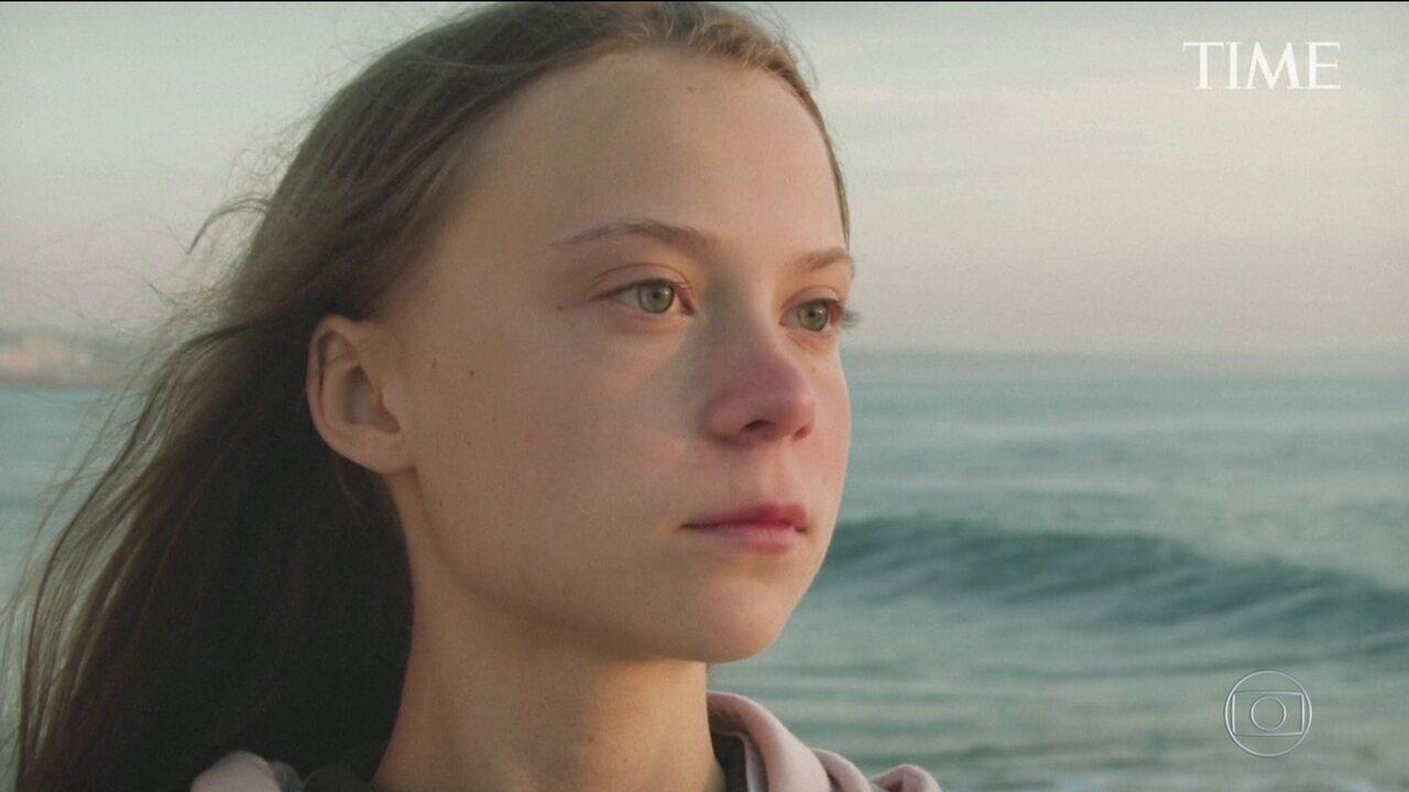 Greta Thunberg é escolhida a 'personalidade do ano' pela revista Time