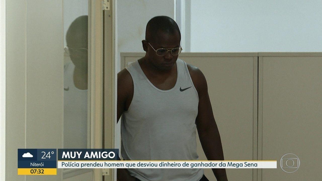 Homem é preso acusado de desviar dinheiro de ganhador de mega sena