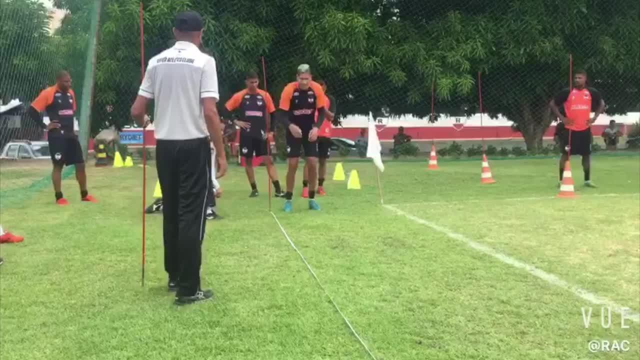 River-PI faz treino físico no gramado e reforça primeira semana de treinos; veja