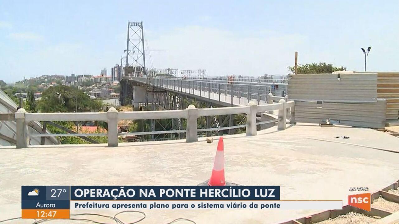 Prefeitura apresenta plano para o sistema viário da Ponte Hercílio Luz em Florianópolis
