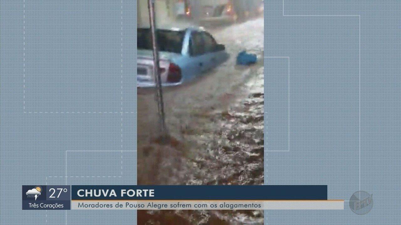 Chuva causa estragos em três cidades do Sul de Minas