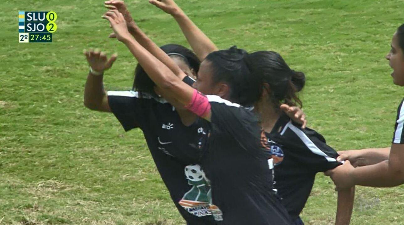 Assista aos gols de São José 2 x 0 Santa Lúcia, pela final feminina da Taça das Favelas