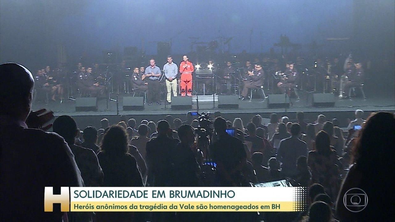 Heróis anônimos da tragédia de Brumadinho foram homenageados em Belo Horizonte