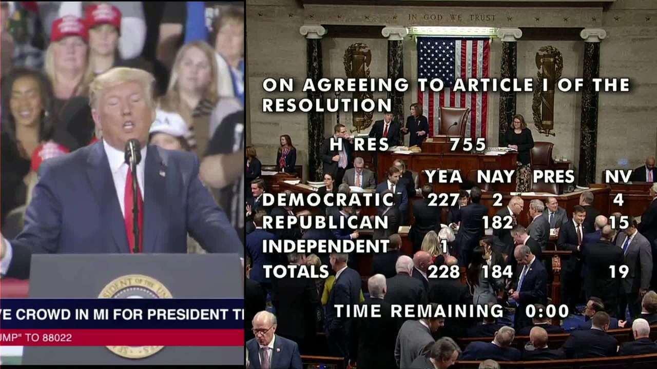 Câmara dos EUA aprova impeachment de Trump