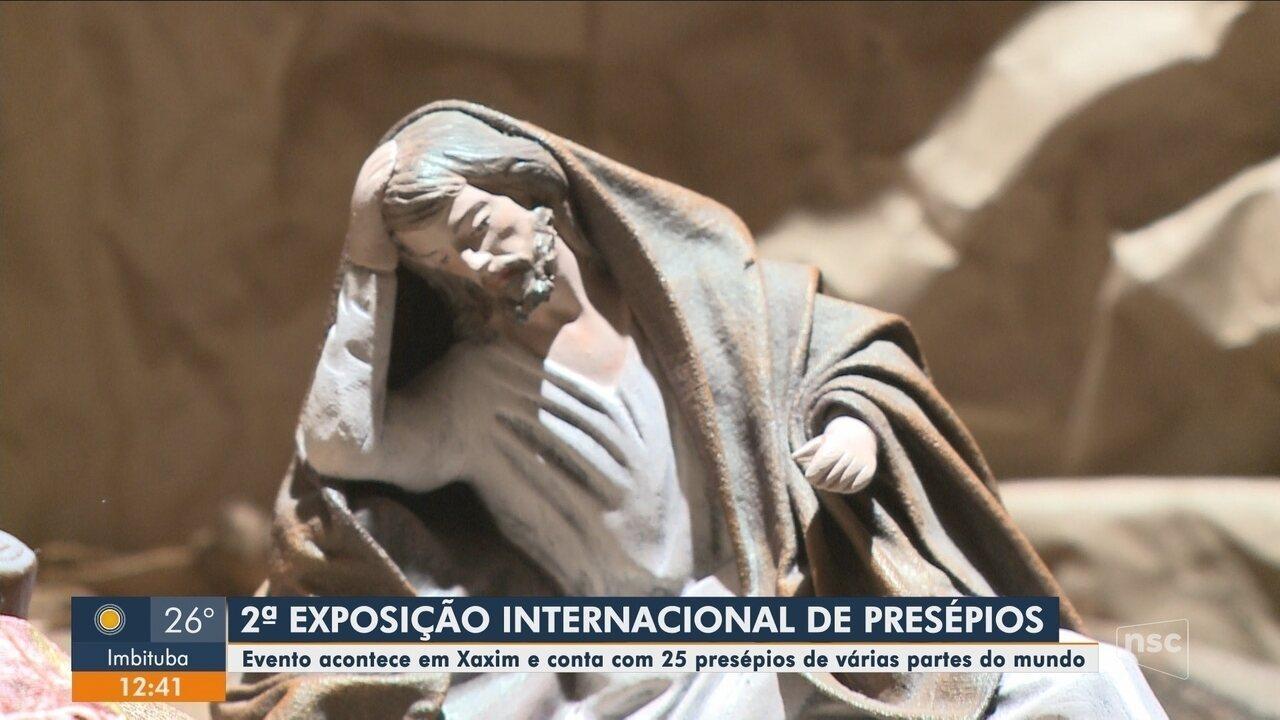 Exposição Internacional conta com presépios de várias partes do mundo em Xaxim