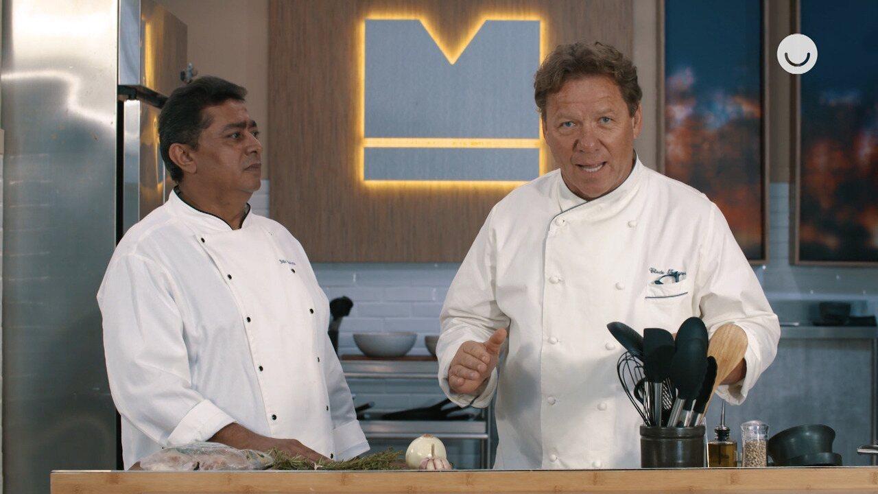 Claude Troisgros e Batista ensinam a fazer um risoto de frango orgânico