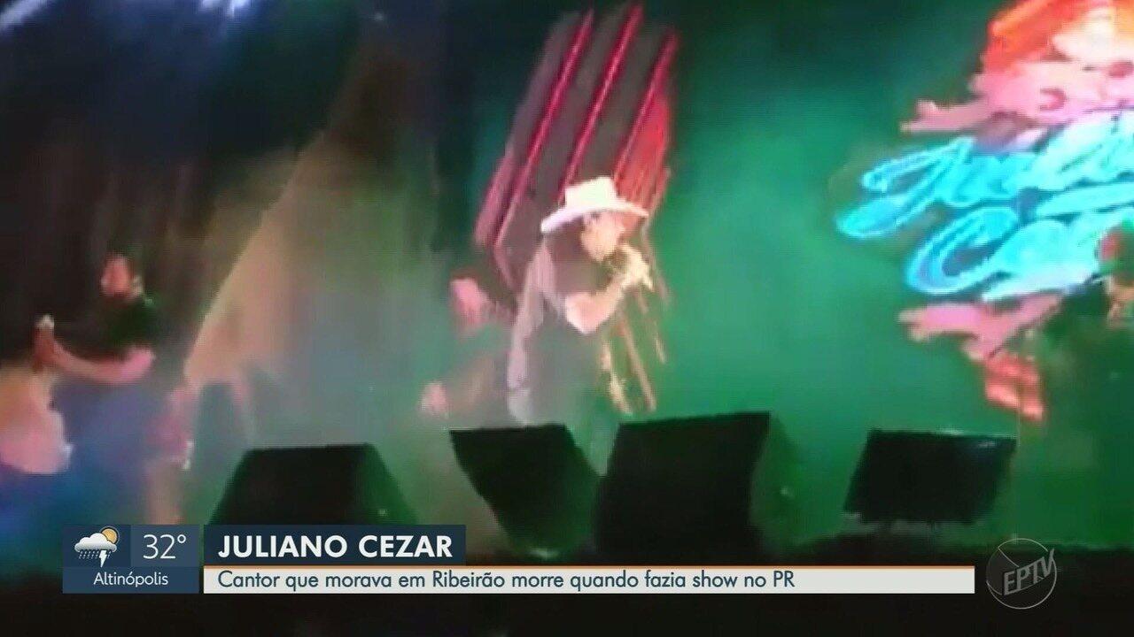 Vídeo mostra cantor Juliano Cézar sofrendo infarto no palco durante show no Paraná