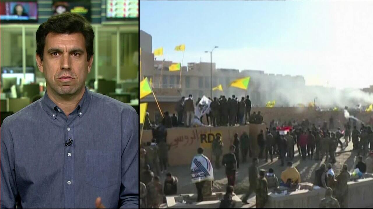 Milicianos tentam invadir embaixada dos Estados Unidos no Iraque