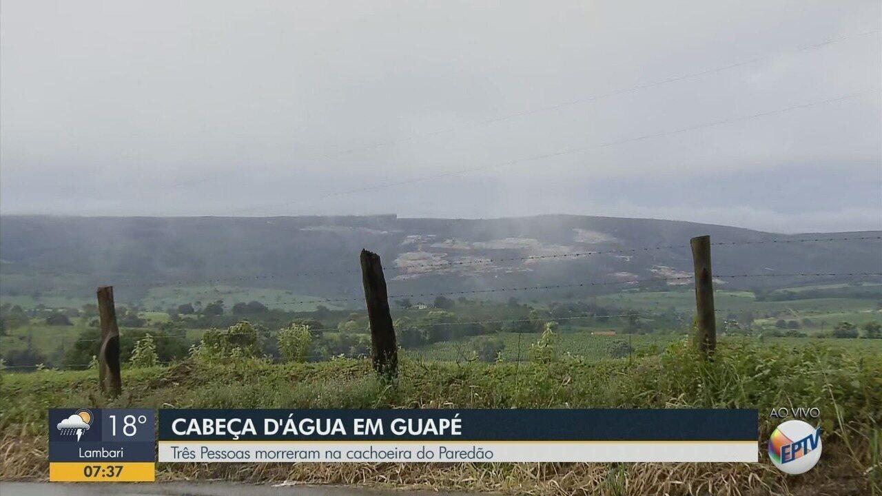 Três pessoas morrem em cachoeira no paredão de Guapé
