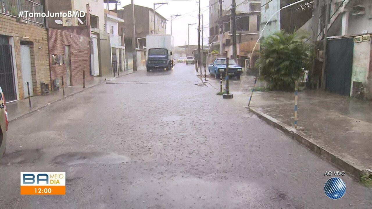 Chuva interfere no trânsito em Águas Claras