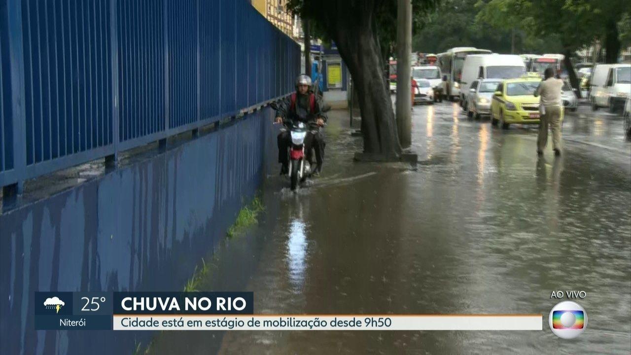 Chuva forte alaga vários pontos do Rio nesta sexta-feira (3)