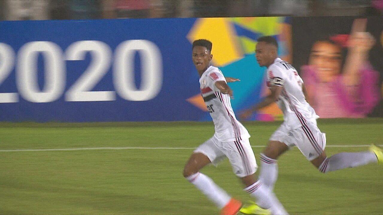 Veja gol de Anilson pelo São Paulo
