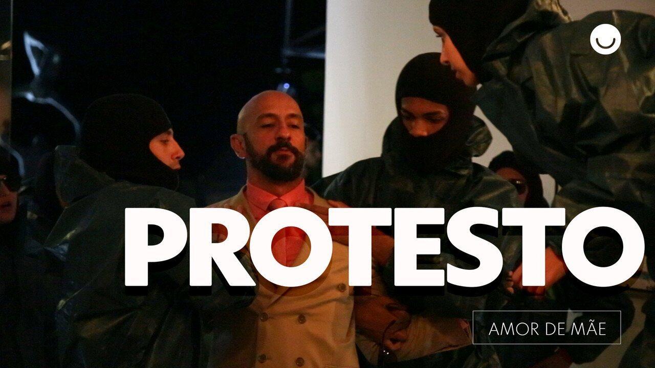 Amanda, Vinícius e outros ativistas invadem jantar organizado por Álvaro