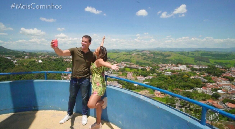 Cris e Pedro conhecem os pontos turísticos de Águas de Lindoia (SP)