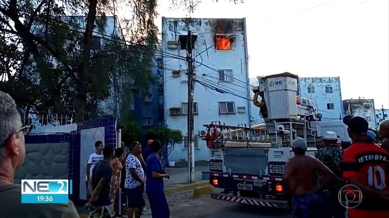 Incêndio atinge apartamento em Paulista