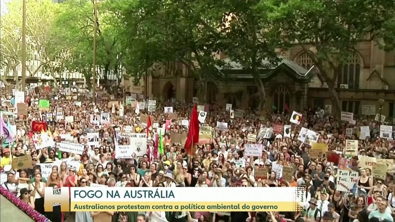 Milhares protestam contra política ambiental do governo da Austrália