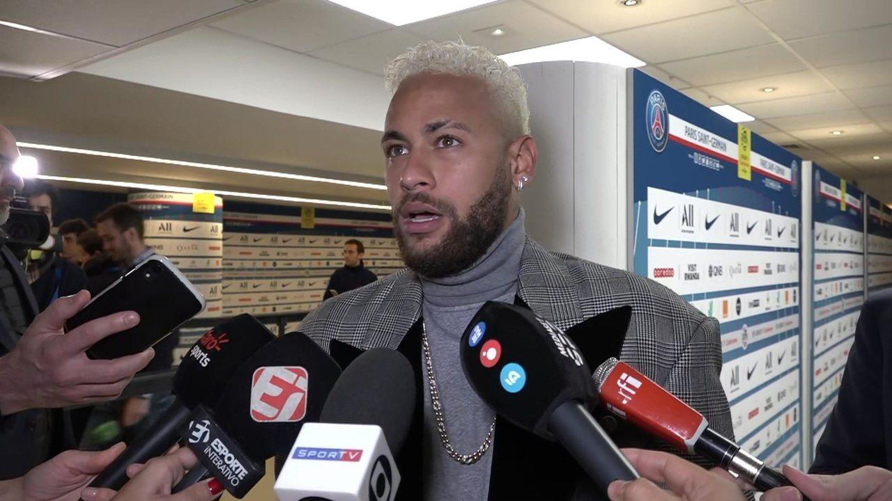 Neymar vê relação boa com torcida do PSG e diz que quer jogar Olimpíada e Copa América