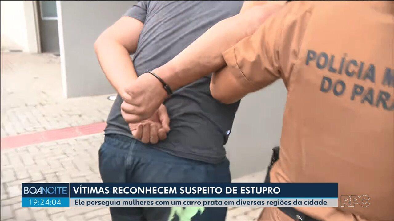 Vítimas reconhecem o suspeito de estuprar e perseguir mulheres com um carro prata