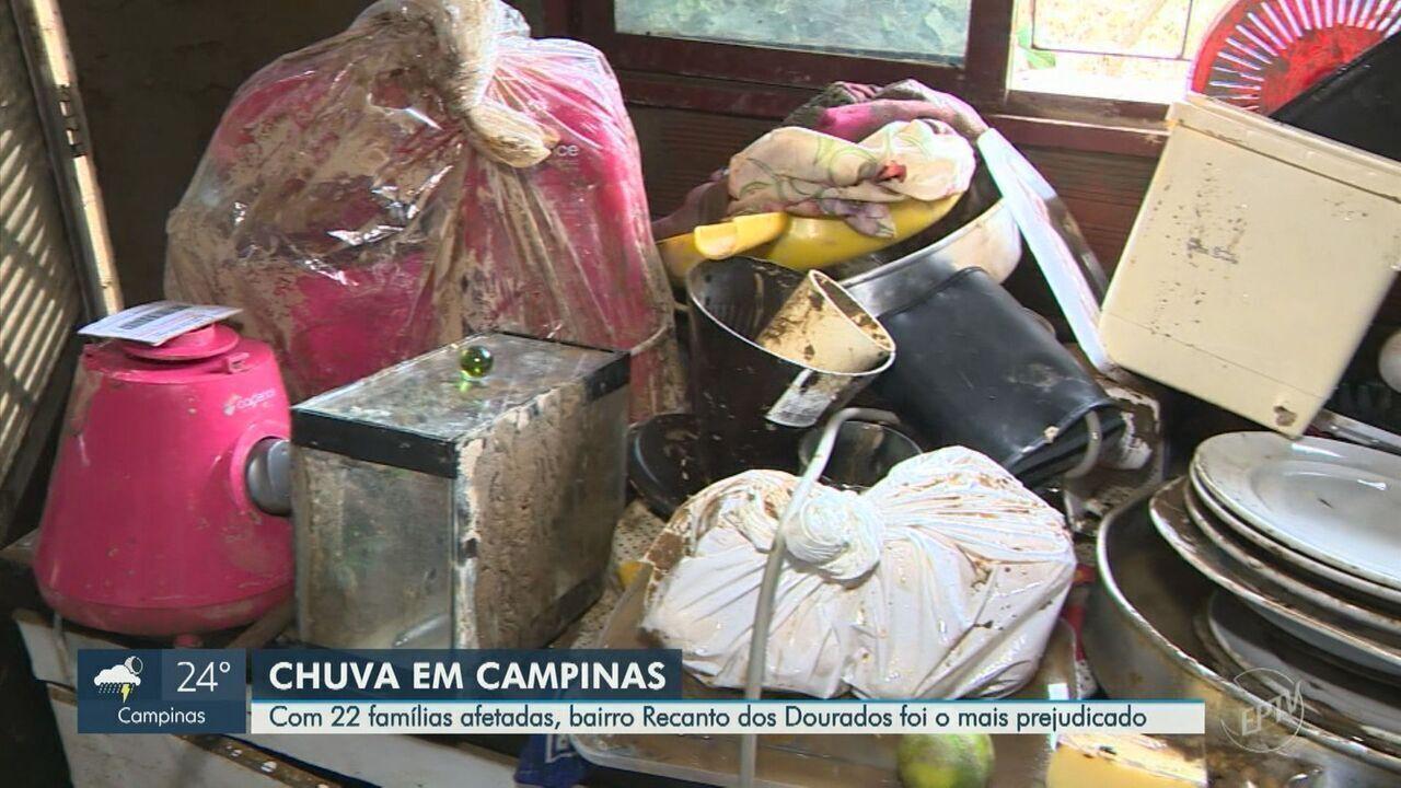 Recanto dos Dourados foi bairro mais afetado por chuvas em Campinas