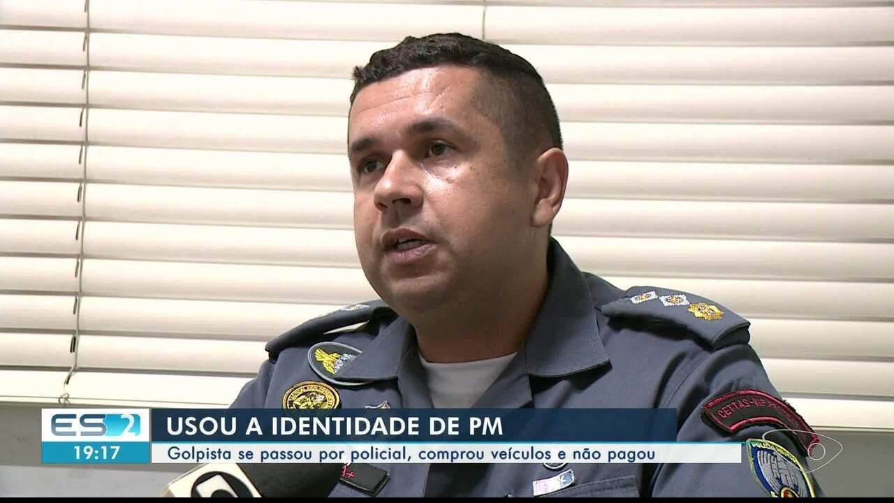 Homem usa identidade identificação de major para comprar veículos no Sul do ES