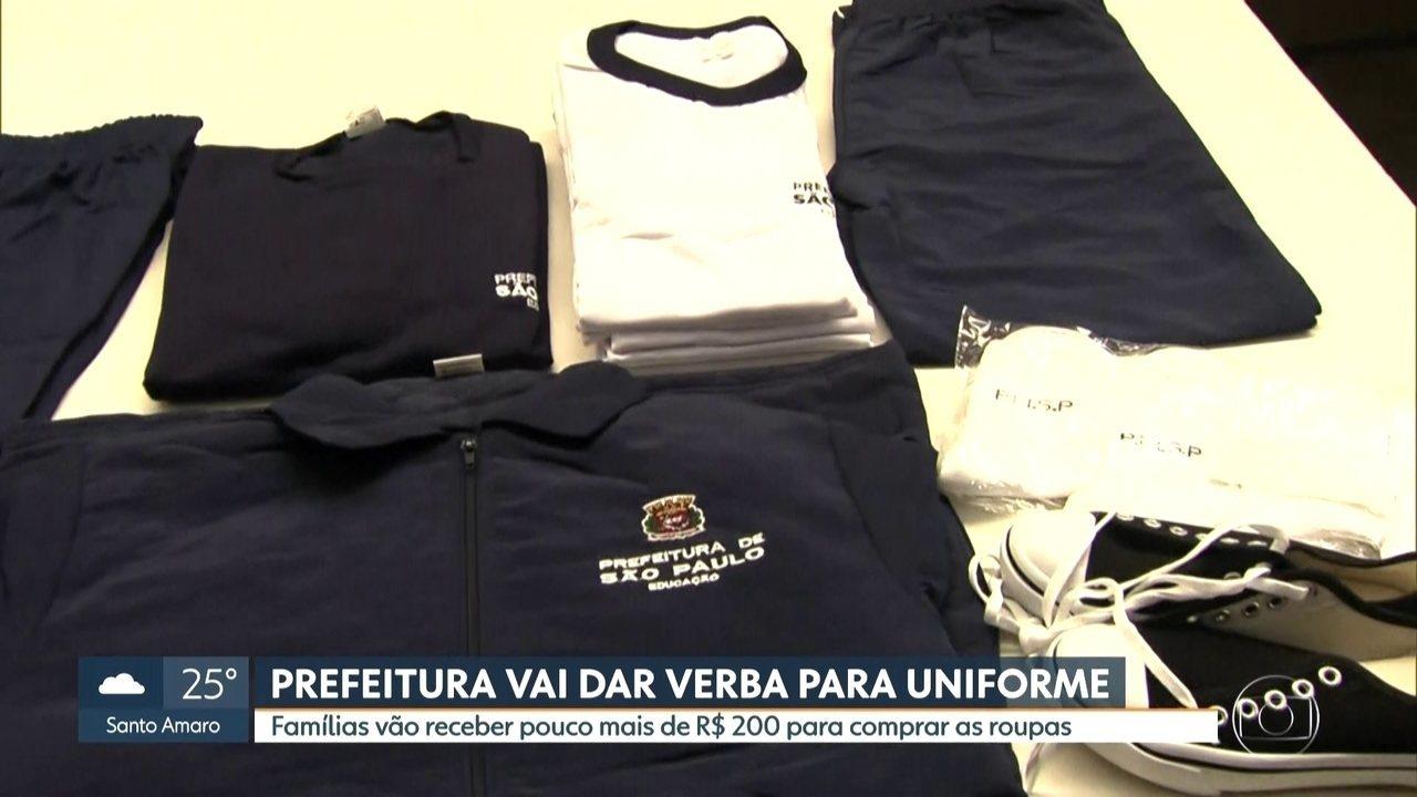 Prefeitura de São Paulo vai dar verba para compra de uniforme da rede municipal