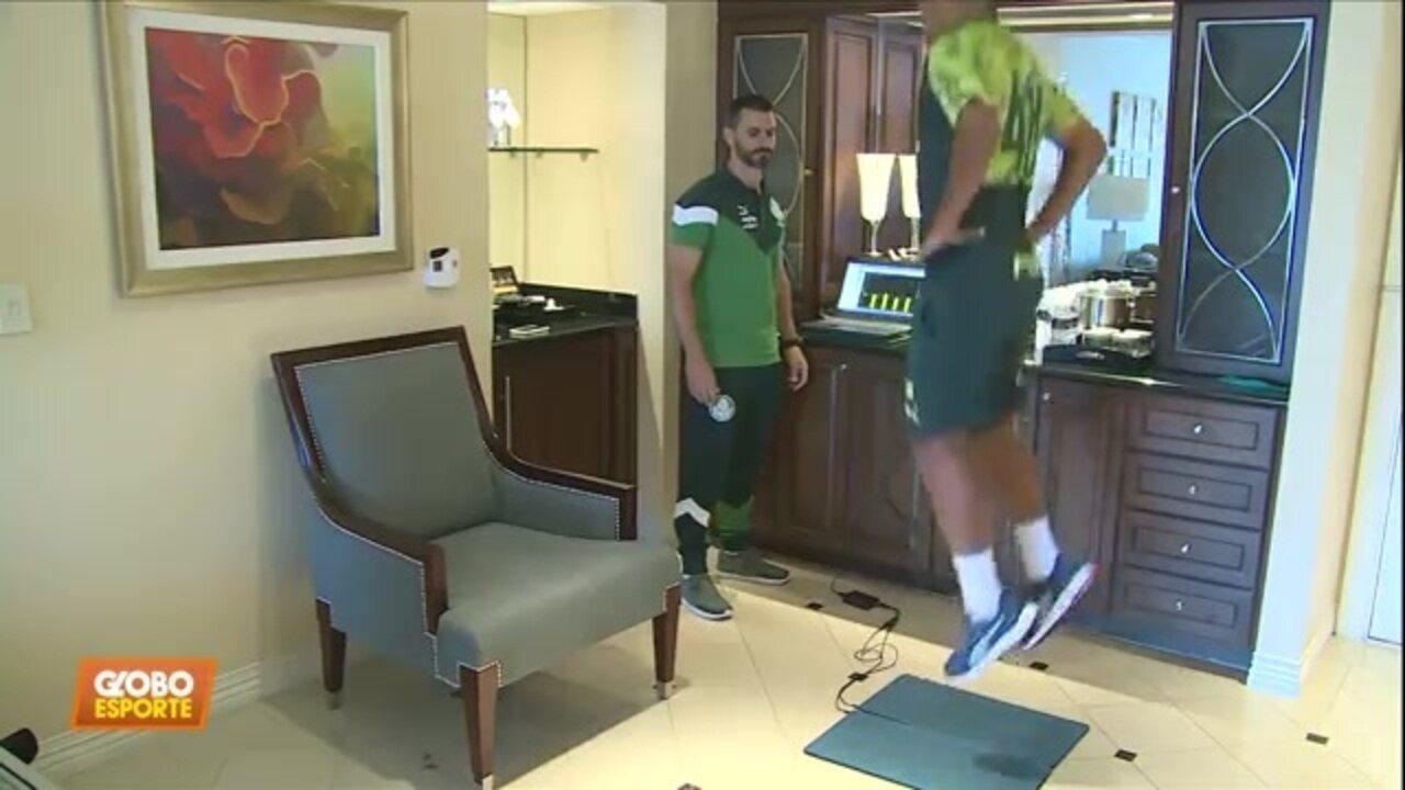 Preparação do Palmeiras nos Estados Unidos inclui testes físicos fora de campo