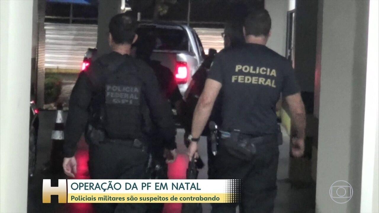 PF prende Coronel da Polícia Militar suspeito de envolvimento com contrabando, em Natal