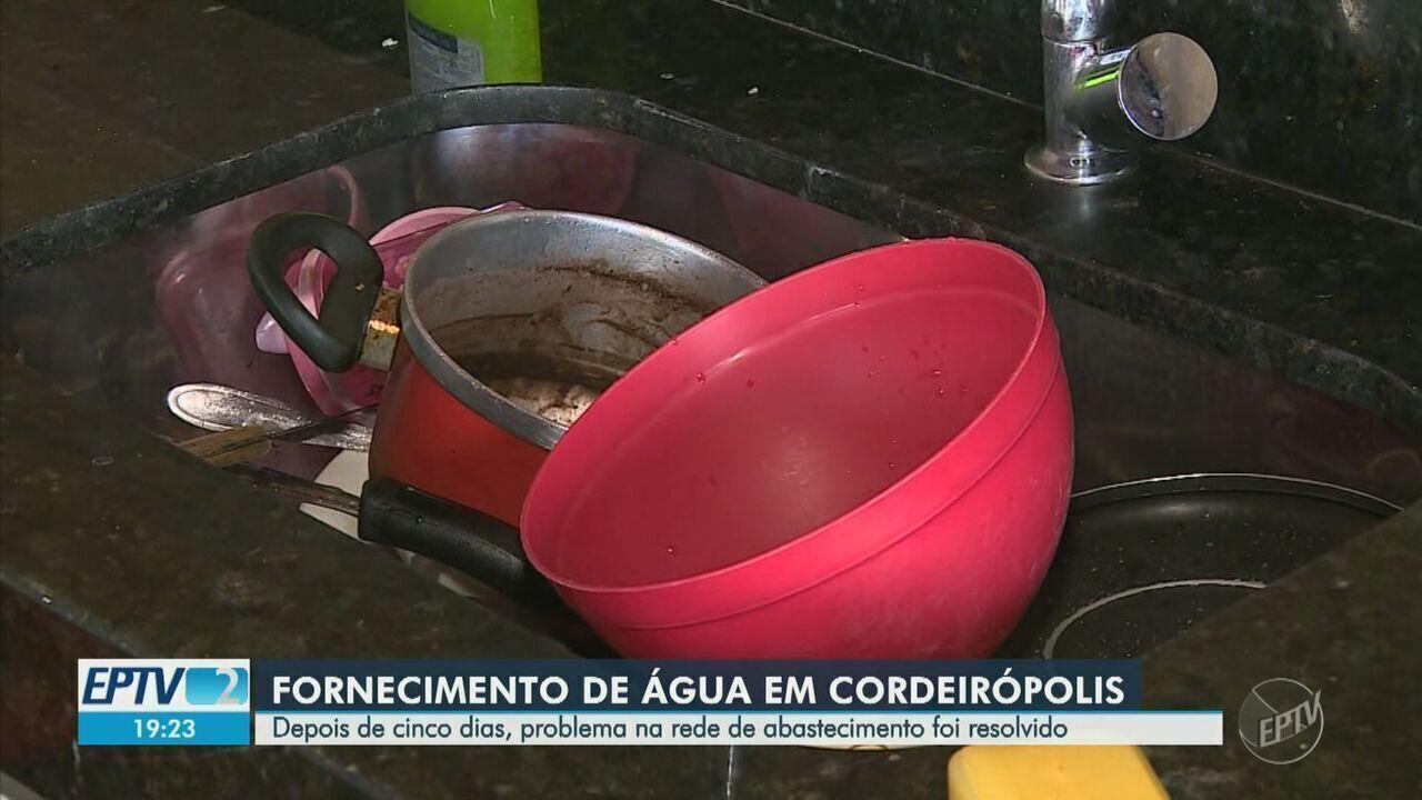 Após cinco dias sem água, abastecimento é normalizado em Cordeirópolis