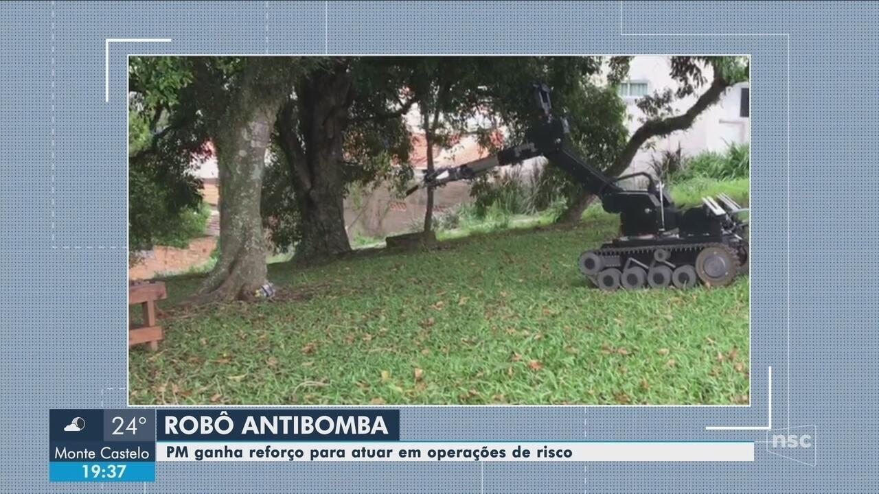 Robô antibomba deve auxiliar Polícia Militar de SC em operações de risco