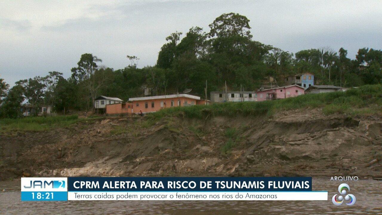 Fenômeno de terras caídas pode causar 'tsunami fluvial' em rios do Amazonas