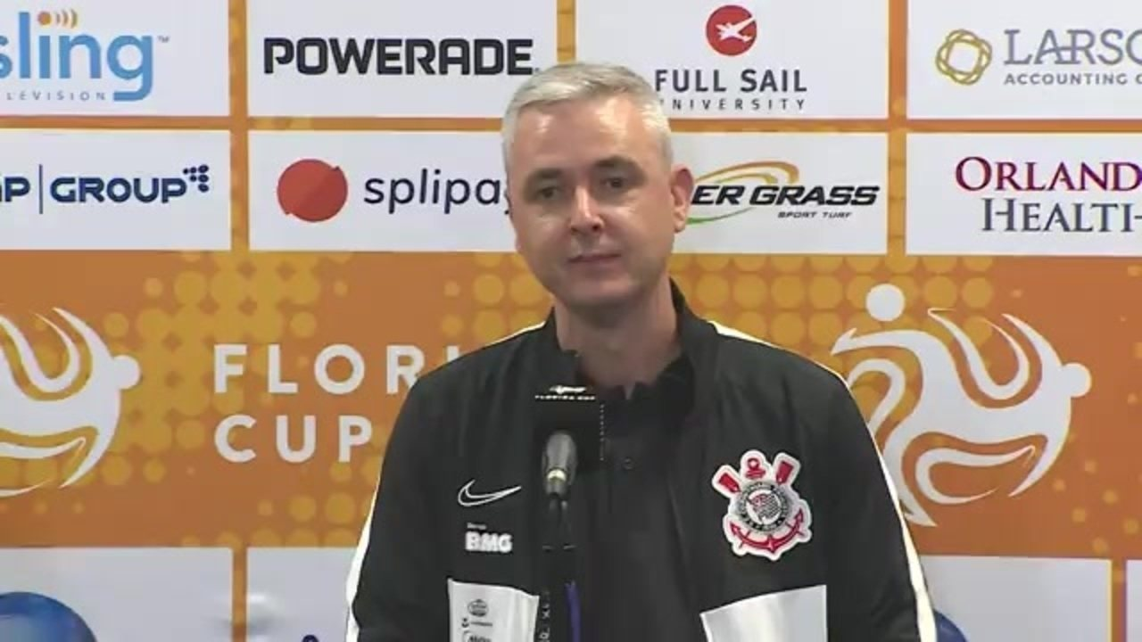 Assista à entrevista coletiva de Tiago Nunes após primeiro jogo pelo Corinthians