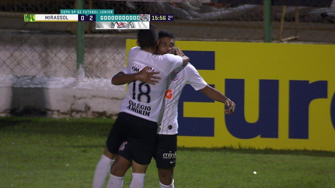 Os gols de Mirassol 1 x 2 Corinthians pelas oitavas da Copa SP de Futebol