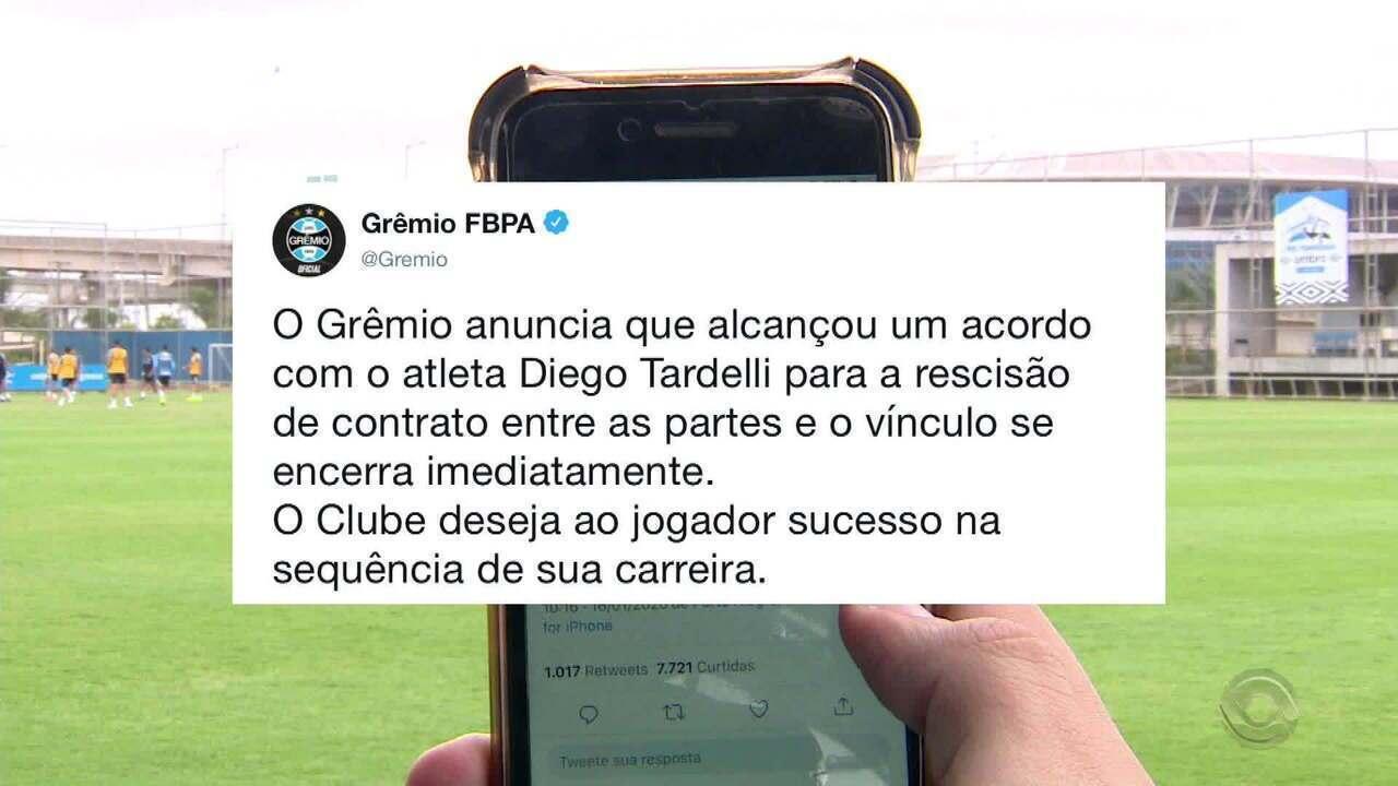 Grêmio confirma saída de Diego Tardelli e anuncia mudanças na comissão técnica