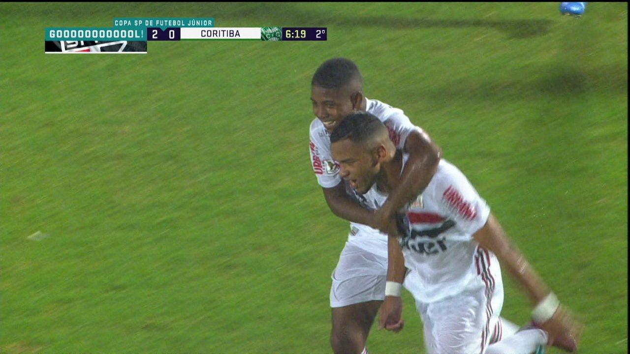 Veja gol de Juan pelo São Paulo na Copinha