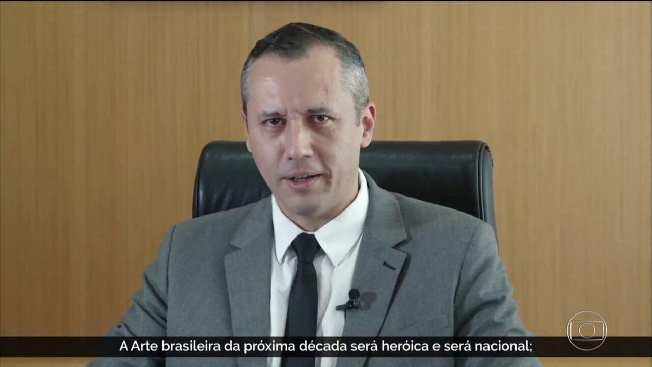 Secretário nacional da Cultura faz discurso semelhante ao de ministro de Hitler