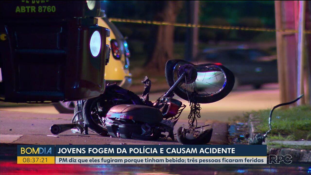 Polícia diz que jovens embriagados fugiram de abordagem e causaram grave acidente