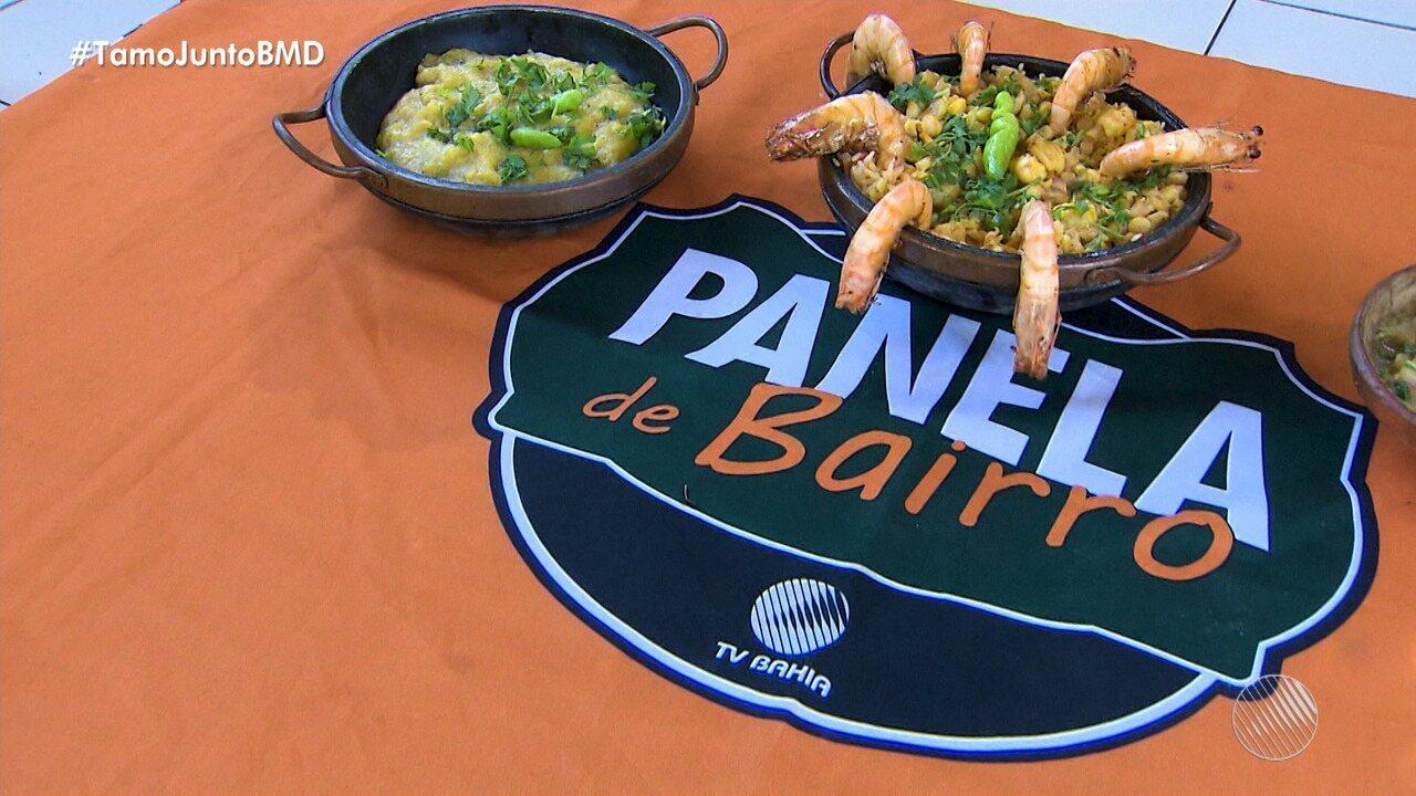 Panela de Bairro: aprenda a fazer receita de arroz baiano com polvo e camarão