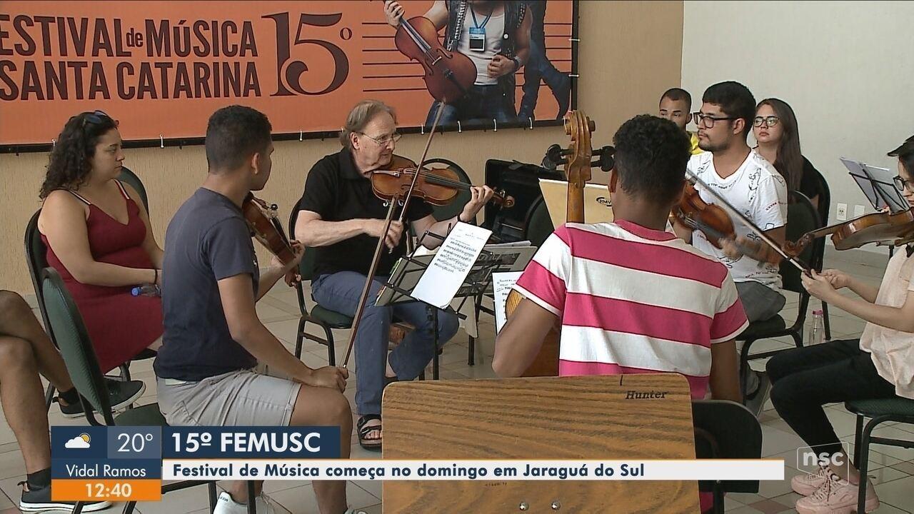 15ª Festival de Música começa neste domingo em Jaraguá do Sul