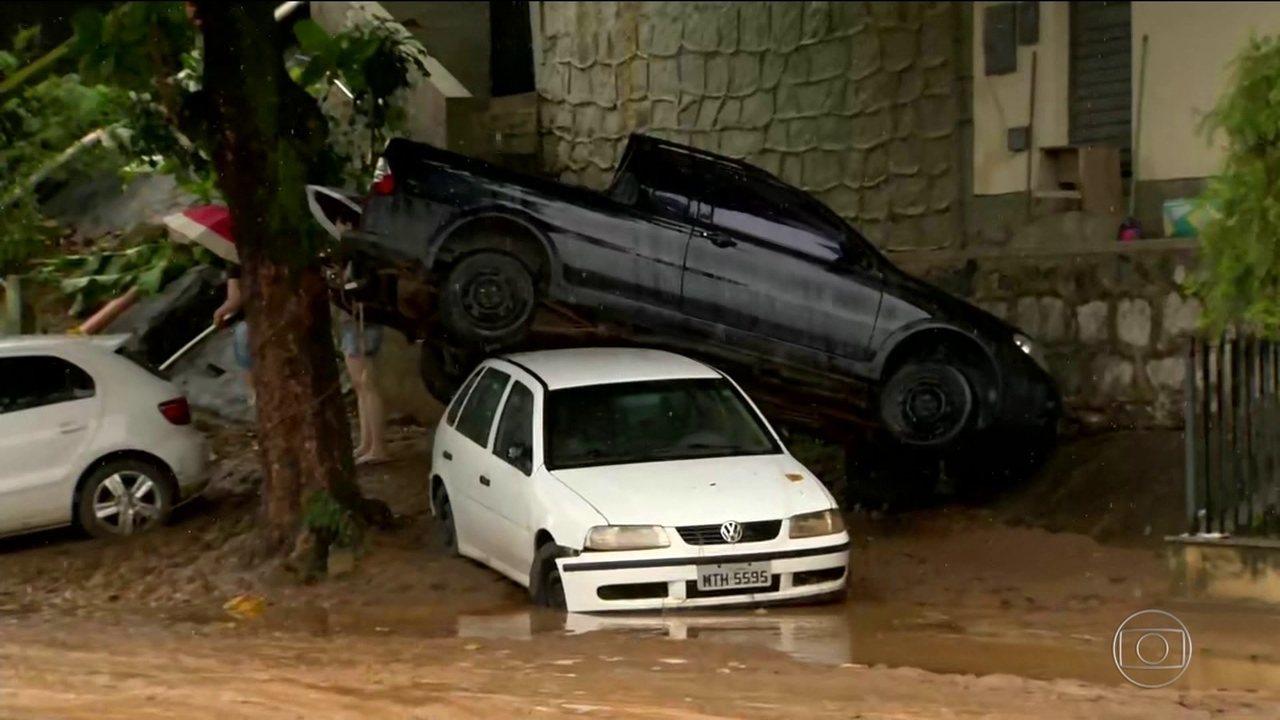Chuva no ES devasta cidade de Iconha e deixa mortos e desaparecidos
