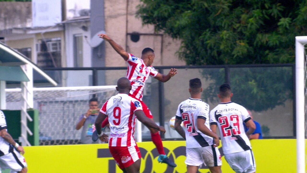 Veja os melhores momentos do empate entre Vasco e Bangu