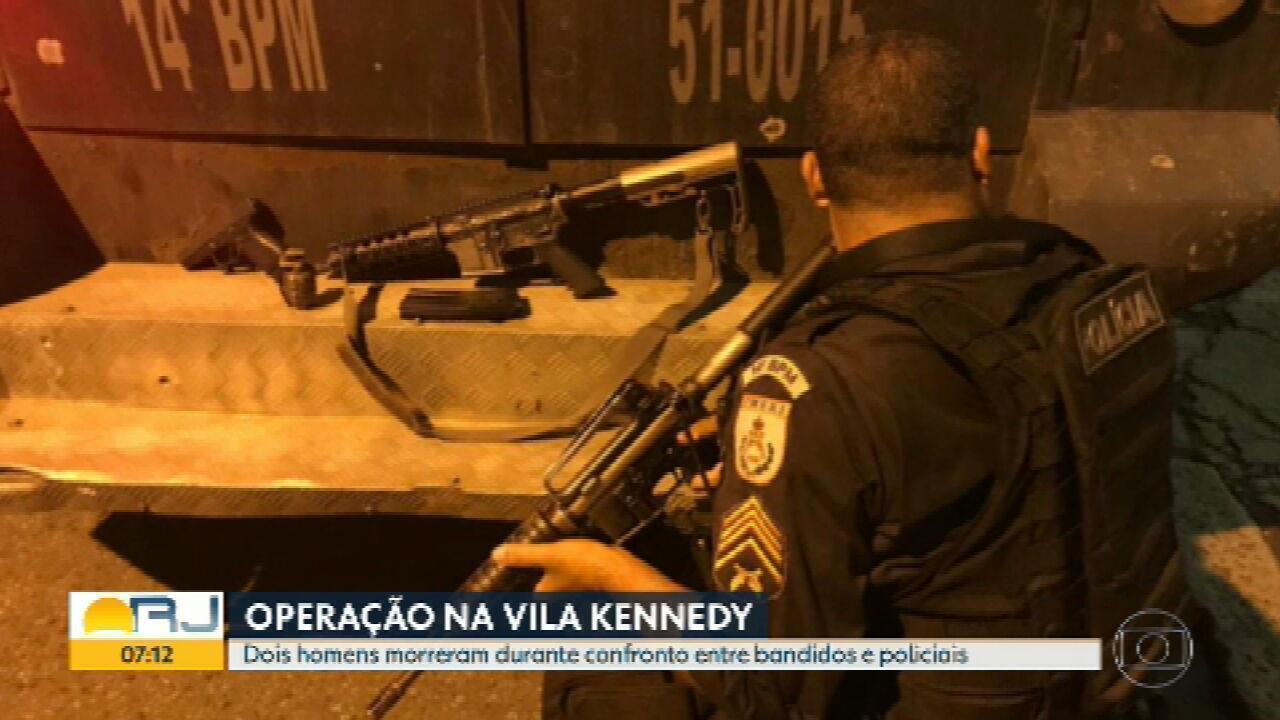 Operação da PM termina com dois suspeitos mortos, na Vila Kennedy