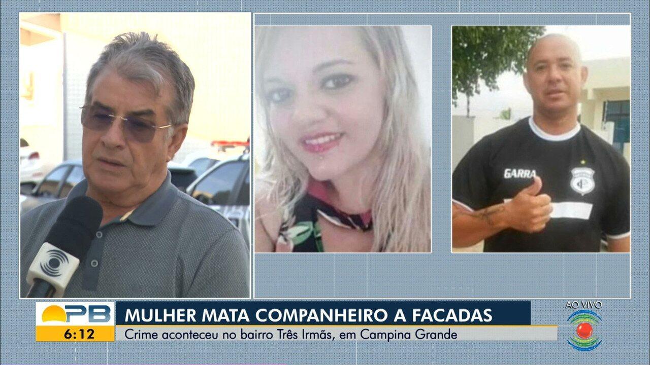 Mulher é suspeita de matar marido a facadas, em Campina Grande