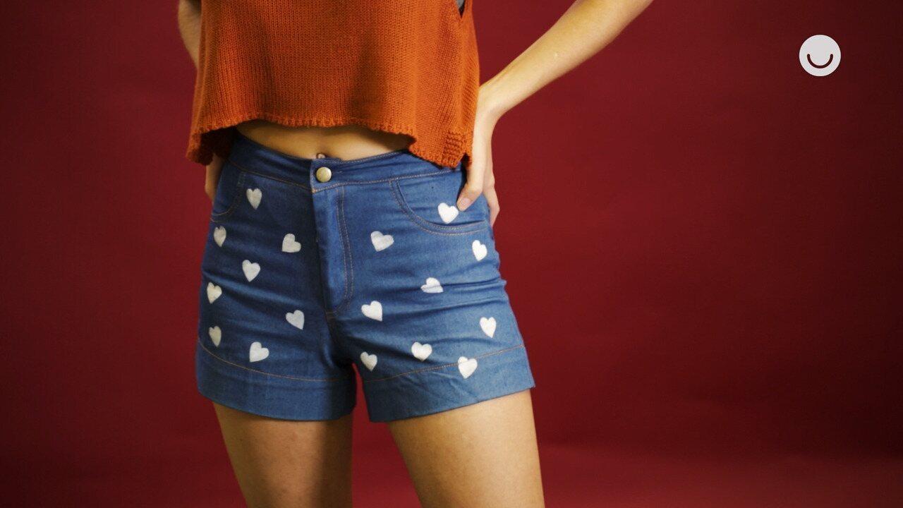 Faça Você Mesmo: Stencil em short jeans
