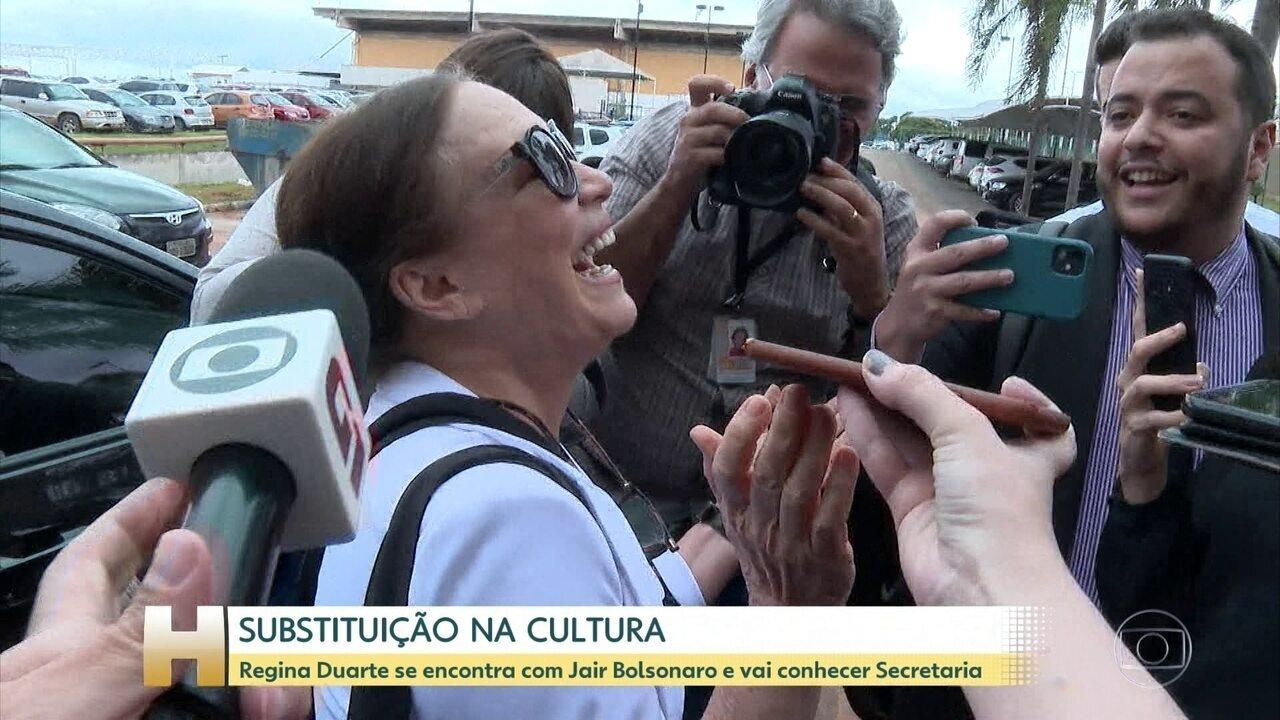 Regina Duarte vai a Brasília para conhecer estrutura da Secretaria Especial de Cultura