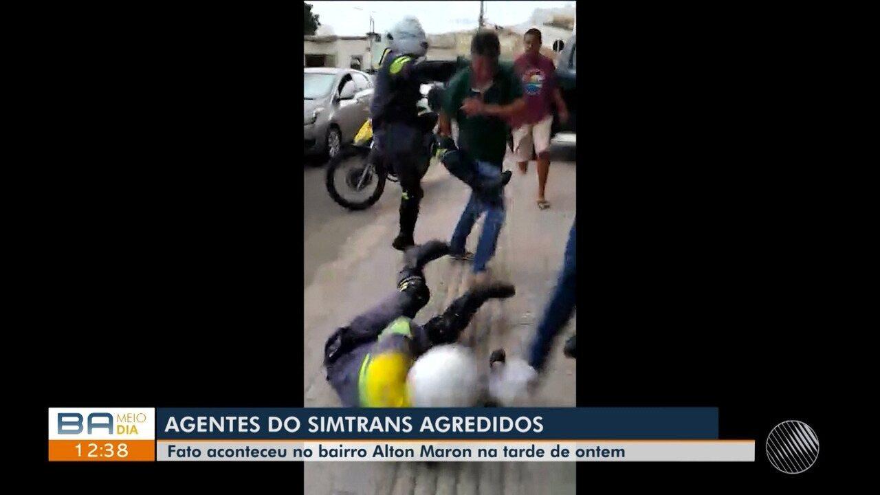 Agentes de trânsito sofrem agressões em Vitória da Conquista, sudoeste do estado