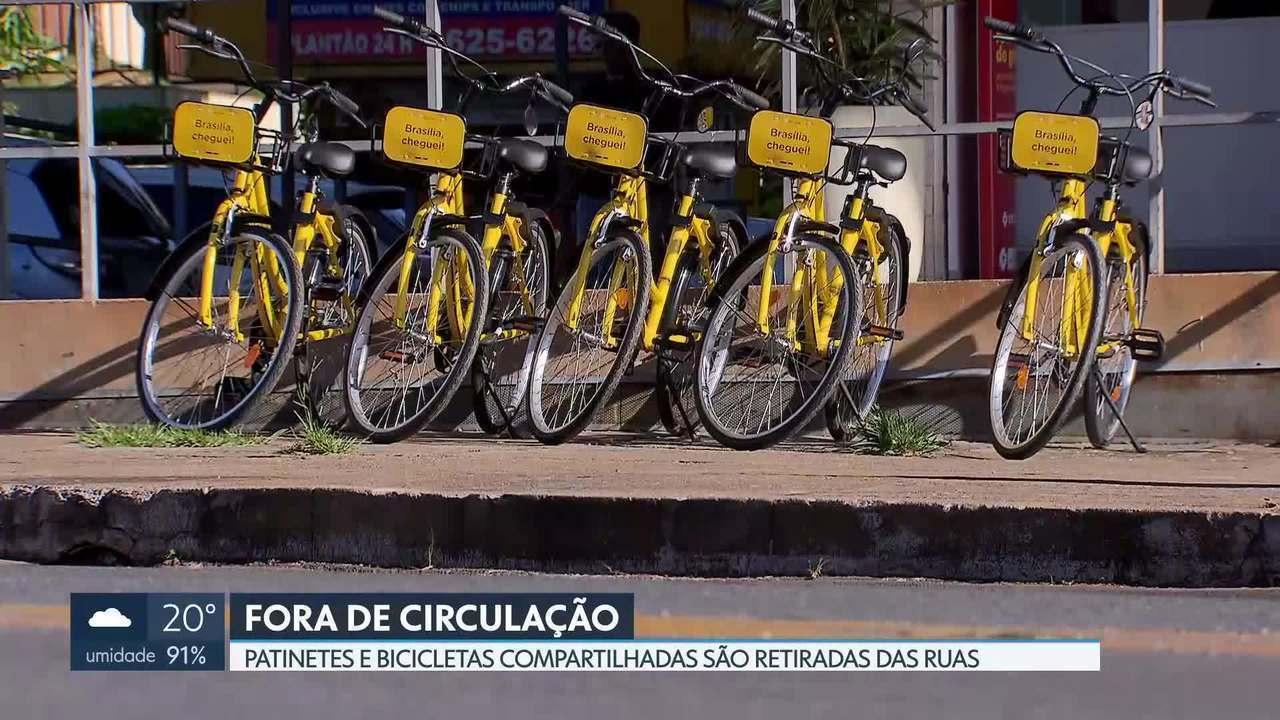 Patinetes e bicicletas compartilhadas são tiradas de circulação